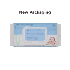 cloversoft bamboo organic pure water baby wipes