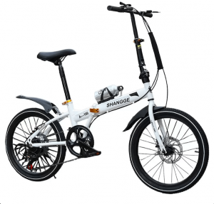 Spulen Folding Bicycle in white