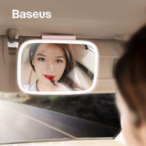 baseus car vanity mirror with light