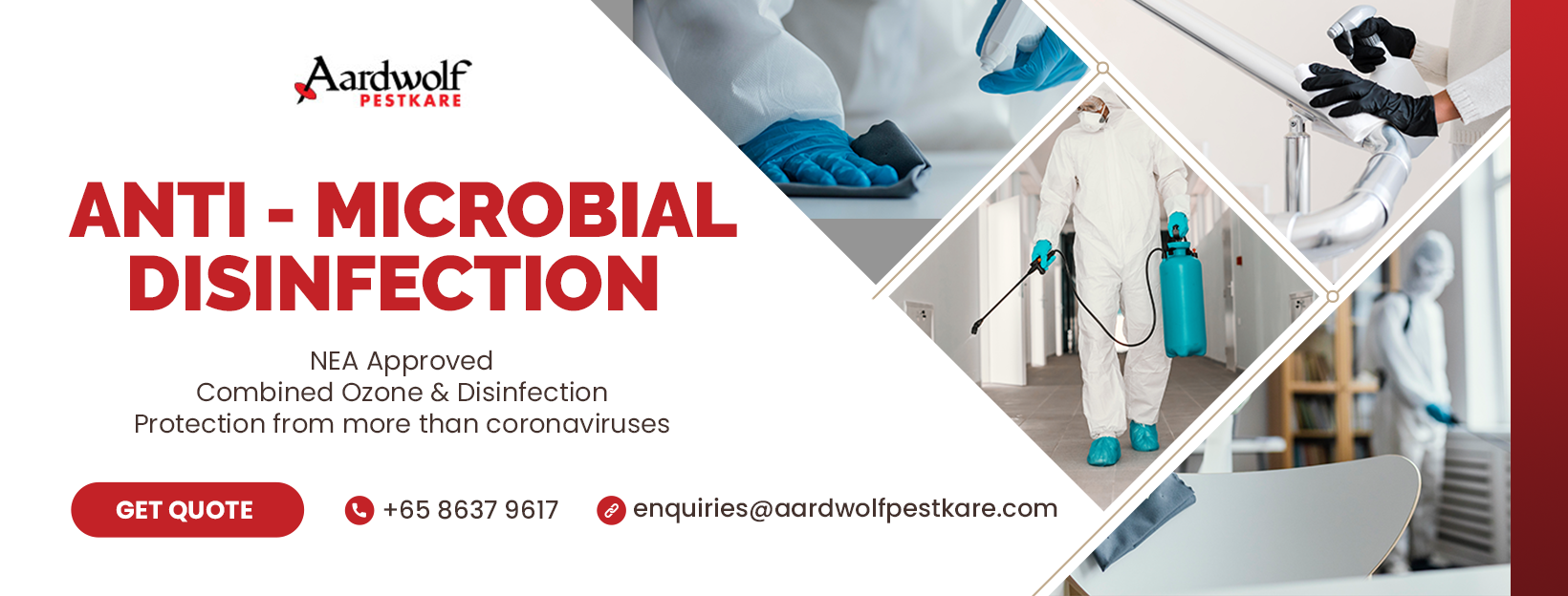 aardwolf pestkare anti microbial disinfection services AMD