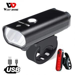 WEST BIKING Bike Light 2 XML LED Headlight